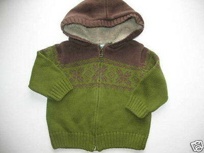 NWT Gymboree Arctic Adventure Hooded Sweater Boy's Sz 3-6M