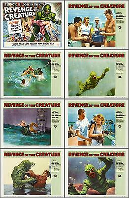 REVENGE OF THE CREATURE Complete Set Of 8 Individual 11x14 LC Prints 1955