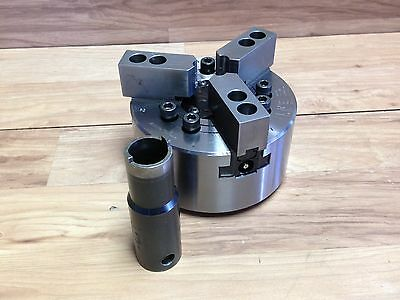 """Nice Armstrong 6"""" 3 Jaw Power Chuck W/ A 2 5 Mount"""