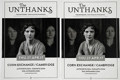 The Unthanks 2017 Tour Flyer Cards X 2 - How Wild The Wind Blows - Molly Blake