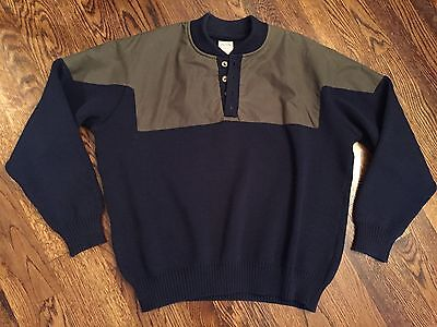 Filson Waxed Tin Cloth & Worsted Wool Waterfowlers Guide Sweater, Discontinued