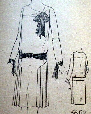 RARE VTG 1920s DRESS Sewing Pattern 14/32 OLD DEADSTOCK