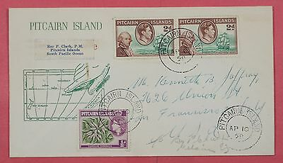 1958 Pitcairn Island Kgvi & Qeii Issues On Cover To Usa