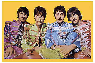 The Beatles * Sgt. Pepper *  Beatles Fan Club Photo Promotional Poster 1967