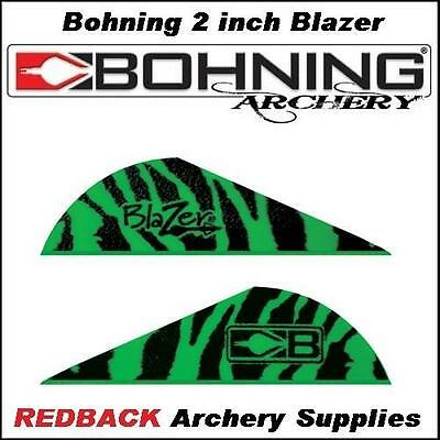 36 Bohning Blazer Vane Tiger GREEN  2 inch for arrows archery hunting