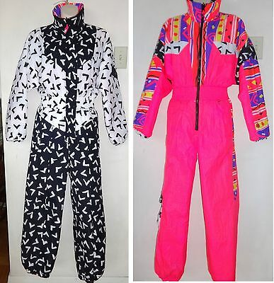 OBERMEYER WOMENS XS Vintage SKI SUIT SKISUIT SNOW ONE PIECE REVERSIBLE Youth 16