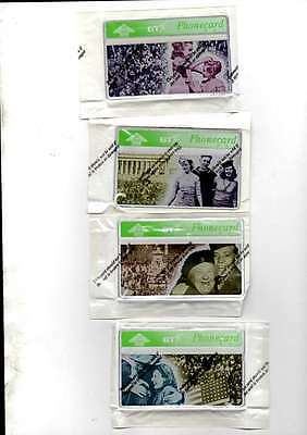4 BT phonecards 20 unit commemorative 50th anniversary of VE day. MINT SEALED