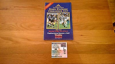 1983 Challenge Cup final Hull v Featherstone + Match ticket