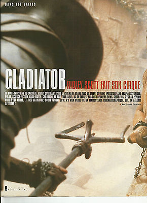 Gladiator - Ridley Scott - Russell Crowe / 2000 Article Presse Reportage