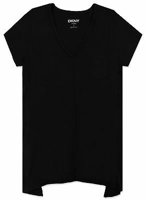 DKNY S/S Lounge Yoga Top T-Shirt Black Women's S,M,L BRAND NEW & TAGGED