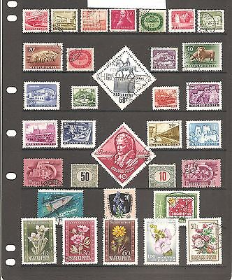 Nice Collection Of 33  Hungary    Fine Used   Stamps    (P18)