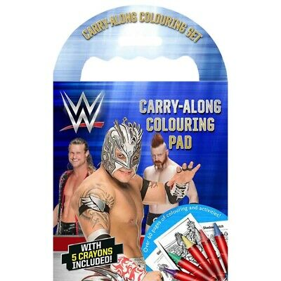 WWE Carry Along Colouring Set Includes John Cena Roman Reigns Undertaker & More