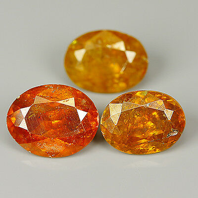 Comely 2.94 Cts Natural SPHALERITE Oval (3 Pcs) Gemstone @ See Video !!