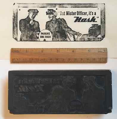 1946 Nash Motors Ad Letterpress Printing Block—Illustration—Print—Classic Car