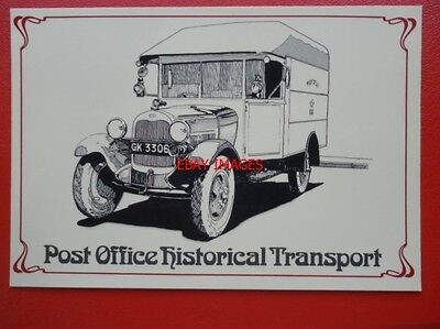 Postcard Royal Mail Post Office - Ford Aa Mail Van