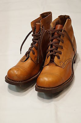 WW2 Australian AIF Pattern 10085 Ankle Boots with Jungle Cleats 1945 Size 8 Mint