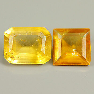 1.40 Ct Natural Rare Mexico CALCITE Octagon&Square  Gem@See SampleCertificate !!