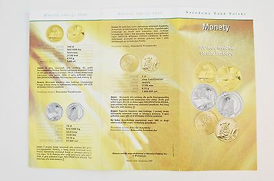 2006 Polish Silver & Copper Coins W/ National Bank of Poland Pamphlet *EB77