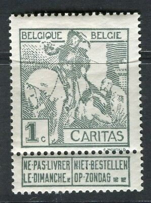 BELGIUM;  1910 Brussels Exhibition issue Mint hinged 1c. value, type A