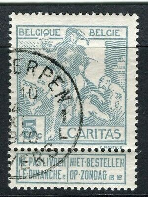 BELGIUM;  1910 Brussels Exhibition issue fine used 5c. value, type A