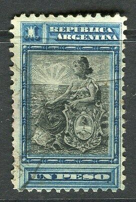 ARGENTINA;  1899 early Liberty issue fine used 1P. value
