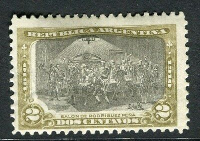 ARGENTINA;  1910 early Anniversary issue fine Mint hinged 2c. value