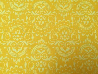 Yellow FQ Fat Quarter Fabric Repeated Patterns 100% Cotton Quilting