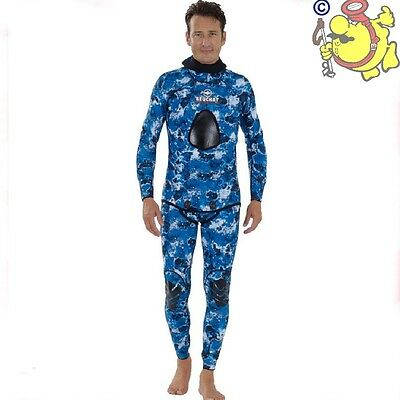 beuchat  APNEA dive suit sparefishing mundial pacific blu mm 1,5 SIZE S  UK