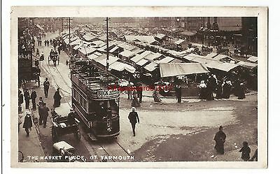 Norfolk Great Yarmouth The Market Place Vintage Postcard 25.02