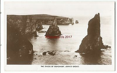 Scotland John O Groats The Stacks Of Duncansby Real Photo Vintage Postcard 24.02