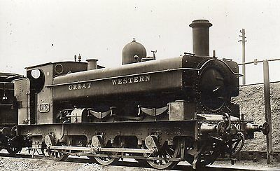 Photo GWR 0-6-0T No 740 at unknown shed yard loco W/drawn Sept 1929