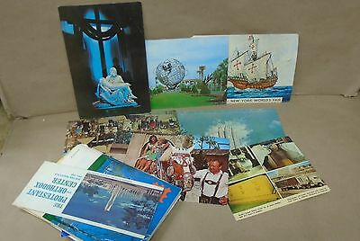 Group of Worlds Fair Postcards Booklets 1964 1965 1967 Expo 1987 Capex 1974 Lot