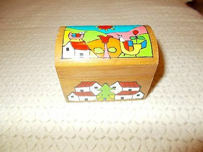 wooden box, hand painted