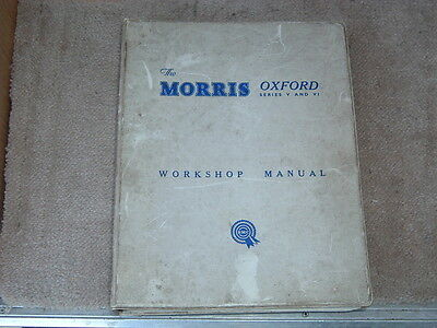 Morris Oxford Series V &  VI Workshop Manual AKD1029D