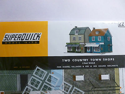 Superquick B Series Card Kit B22 Two Country Town Shops 00/HO model railways NEW