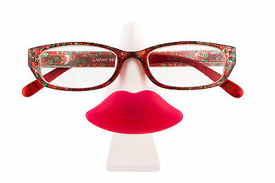 New Tache & Pout Glasses Stand Moustache Lips Holder Seat For Specs Uk Seller