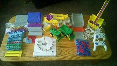 Large Lot of Rokenbok 2 RC Vehicles 2 Controllers Conveyor Command Console