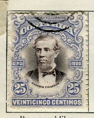 COSTA RICA;   1901 early classic issue fine used 25c. value