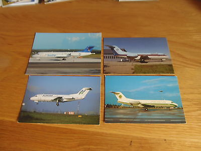 8 x colour postcards of airlines that fly/flew Fokker Fk28/100 aircraft