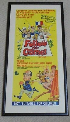 CARRY ON FOLLOW THAT CAMEL ORIGINAL CINEMA DAYBILL POSTER 1967 Phil Silvers RARE
