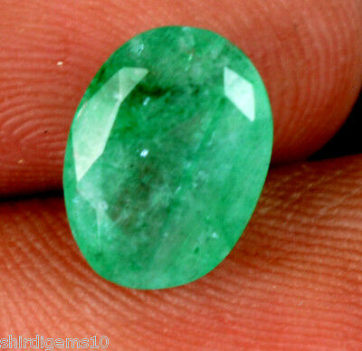2.30 Ct Good Looking Natural Certified Oval Green Emerald Loose Gemstone-Ebay