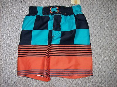 CHEROKEE Boys Swim Trunks Size Xs UPF 50+ Multi Colored NWT