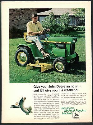 1972 JOHN DEERE 112 Lawn and Garden Tractor Mower Vintage Photo AD