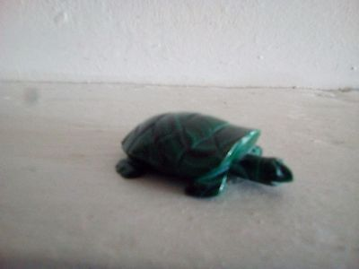 Small Malachite Collectable Turquoise Ornament