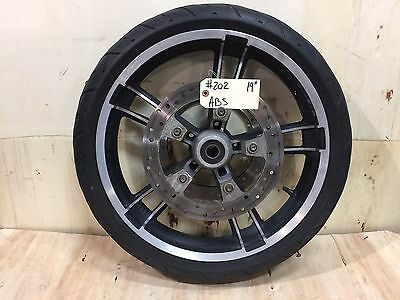 """Harley-Davidson 2008-2017 19"""" Enforcer Front Wheel, Tire, Rotors with ABS   #202"""