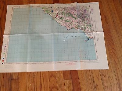 Roma southern zone layer system 1944 map rare