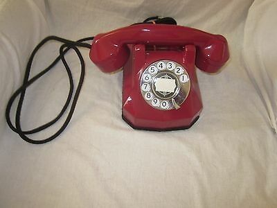 Automatic Electric RED Model 40 Bakelite with Chrome Trim