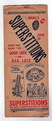 1950s INGALL'S BOOK OF SUPERSTITIONS Good Bad Luck SUPERSTITION Marriage