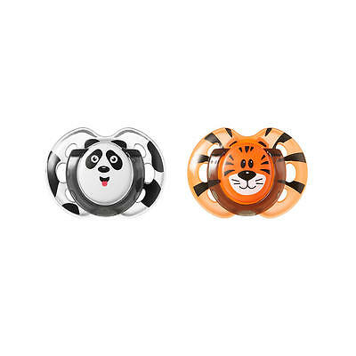 Tommee Tippee 0-6m Orthodontic 2pk Pacifier - Panda/Tiger