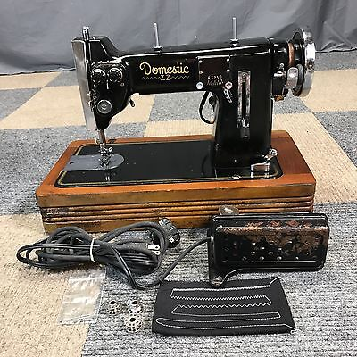Works Perfect Vintage Domestic Zz Double Needle Zigzag Heavy Duty Sewing Machine
